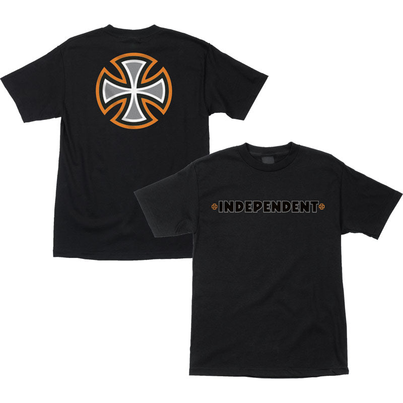 INDEPENDENT B/C Primary T-Shirt Black/Orange
