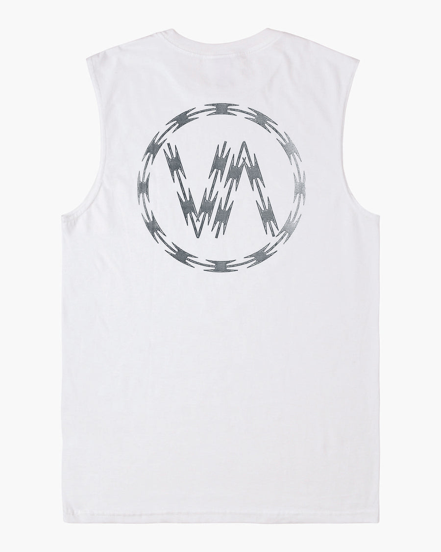 RVCA Razor Muscle Tank White MENS APPAREL - Men's Jerseys and Tank Tops RVCA
