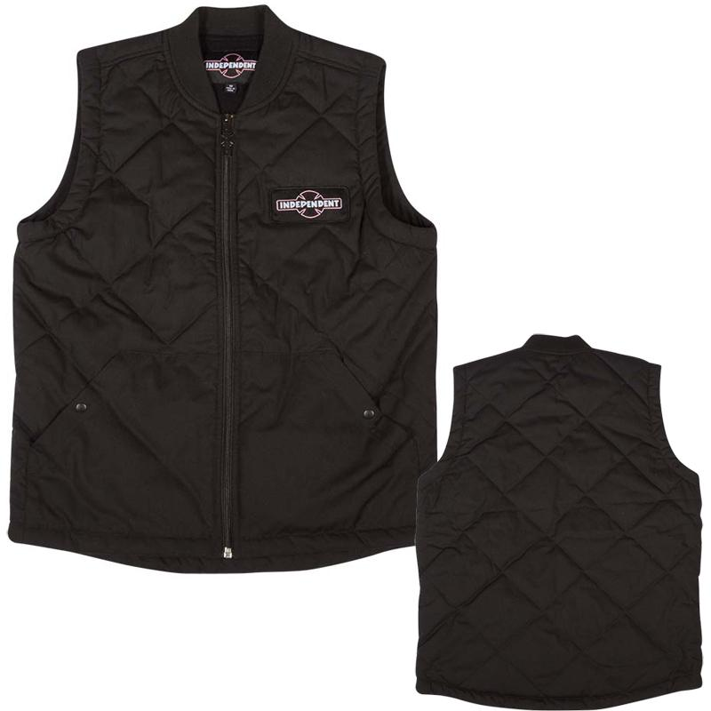 INDEPENDENT Foundation Vest Black MENS APPAREL - Men's Street Jackets Independent