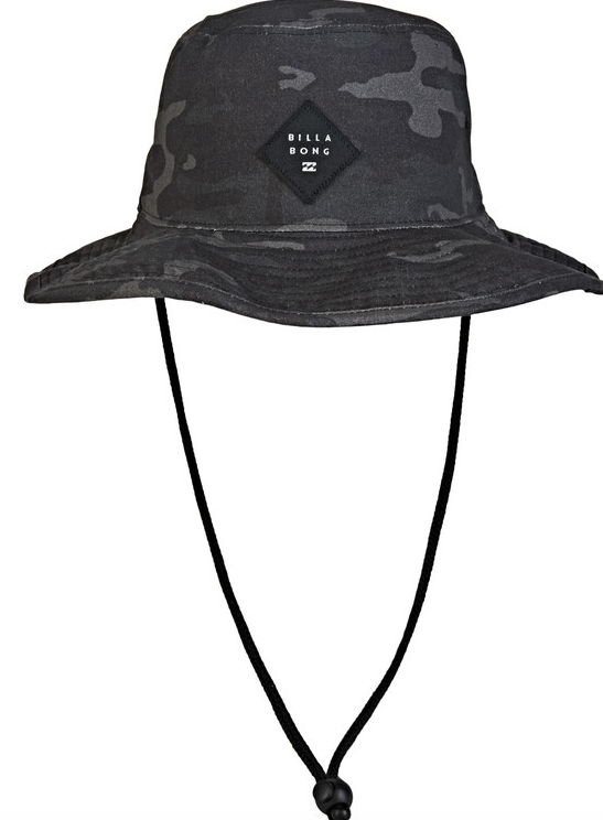 BILLABONG Big John Print Bucket Hat Grey Camo