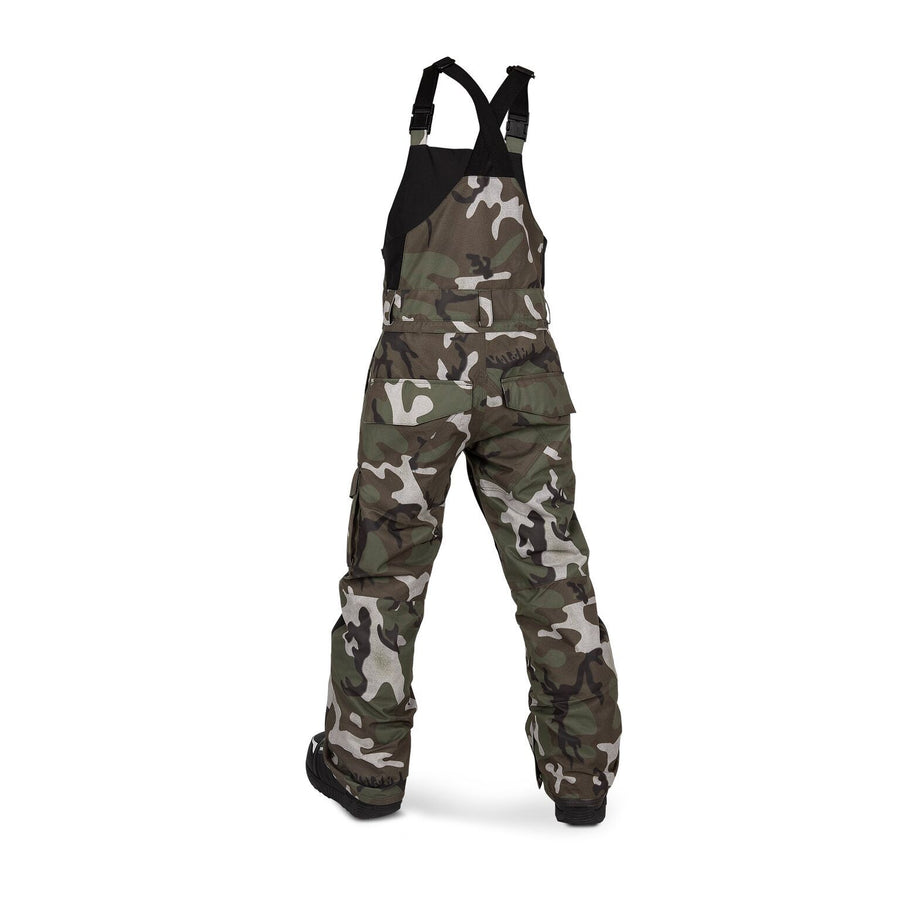 VOLCOM Barkley Bib Overall Youth Snowboard Pants GI Camo 2020 YOUTH INFANT OUTERWEAR - Youth Snowboard Pants Volcom L