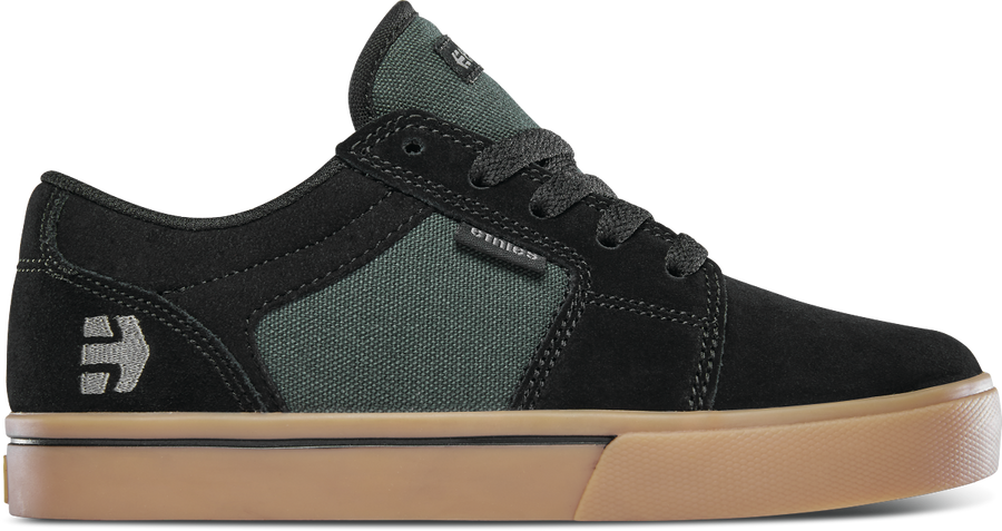 ETNIES Barge LS Shoes Youth Black/Green/Gum
