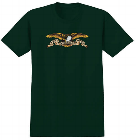 ANTIHERO Eagle T-Shirt Forest Green MENS APPAREL - Men's Short Sleeve T-Shirts Antihero