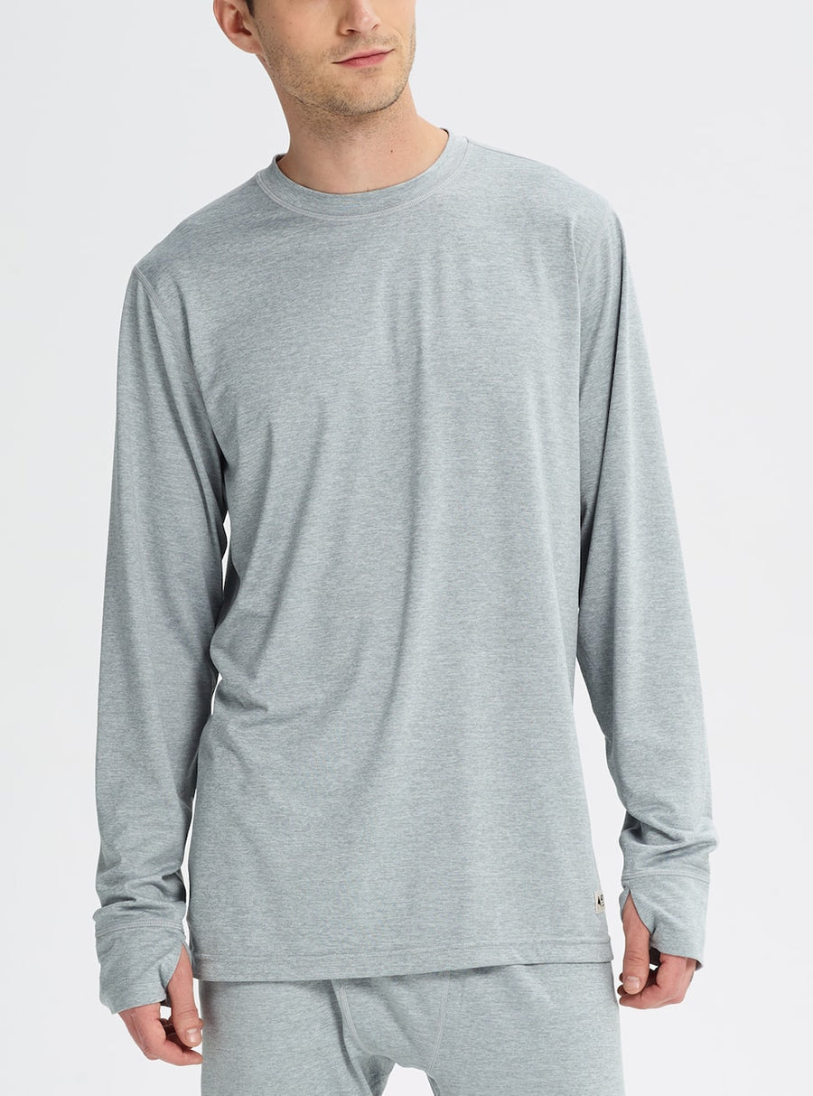 BURTON Midweight Base Layer Crew Top Monument Heather