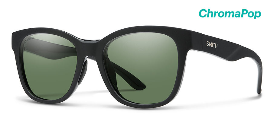 faa10aaba5 SMITH Caper Matte Black - Chromapop Grey Green Polarized ...