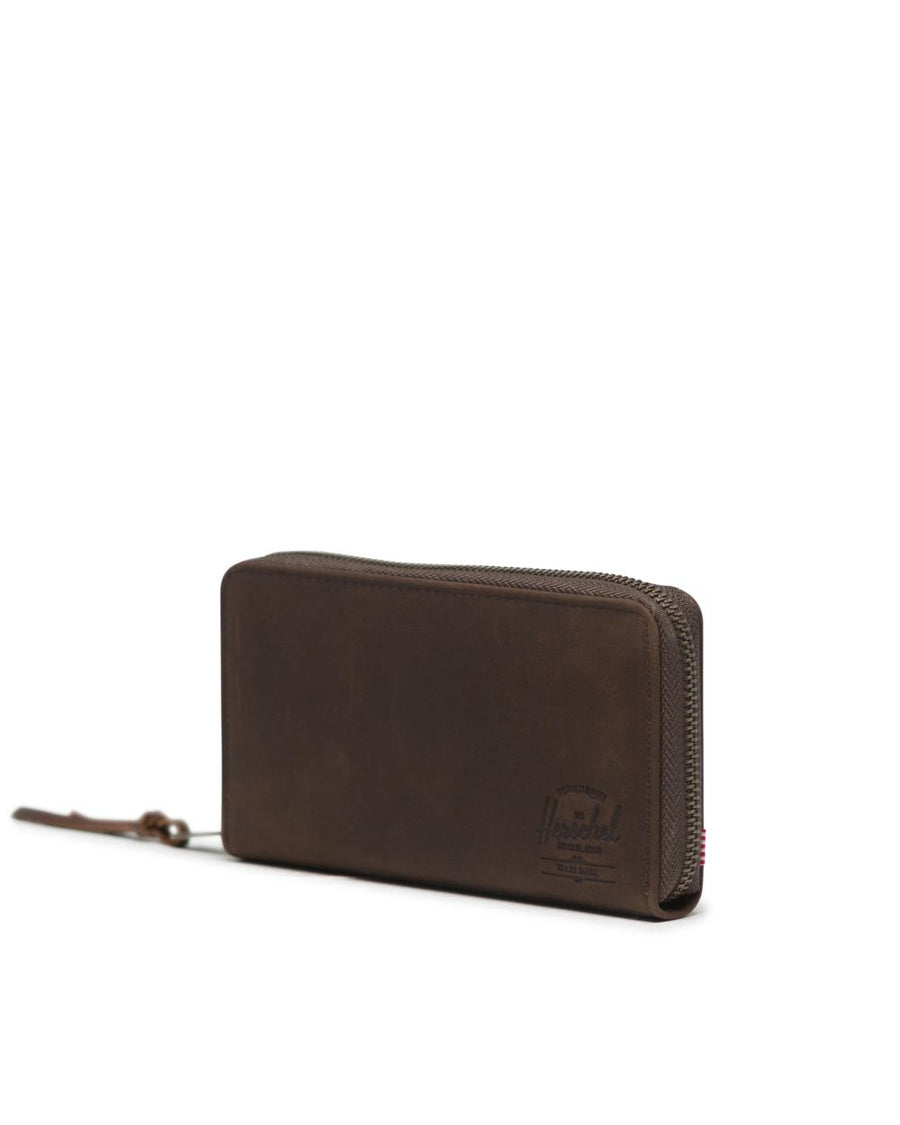 HERSCHEL Thomas Wallet Brown Nubuck Leather