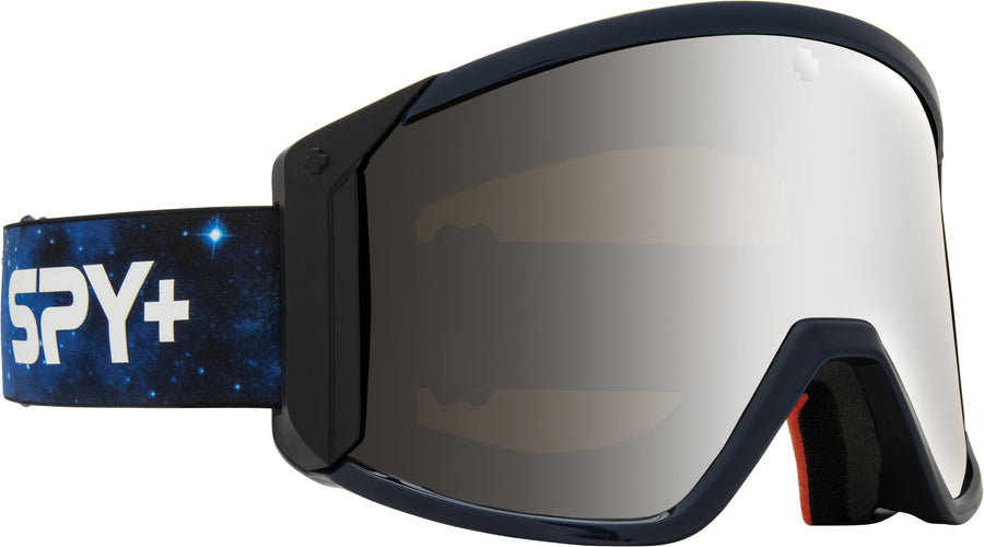 SPY Raider Galaxy Blue - HD Bronze with Silver Spectra Mirror + HD LL Persimmon Snow Goggles GOGGLES - Spy Goggles Spy