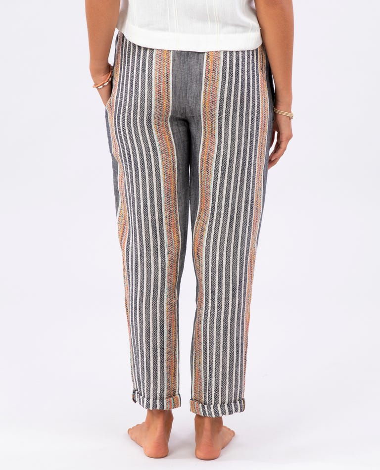 RIP CURL Baja Stripe Pant Women's Black WOMENS APPAREL - Women's Pants Rip Curl