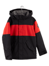 BURTON Symbol Snowboard Jacket Youth True Black/Flame Scarlet 2021 YOUTH INFANT OUTERWEAR - Youth Snowboard Jackets Burton
