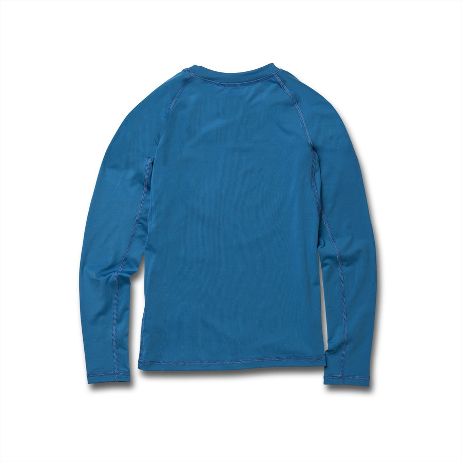 VOLCOM Lido Solid L/S Rashguard Youth True Blue