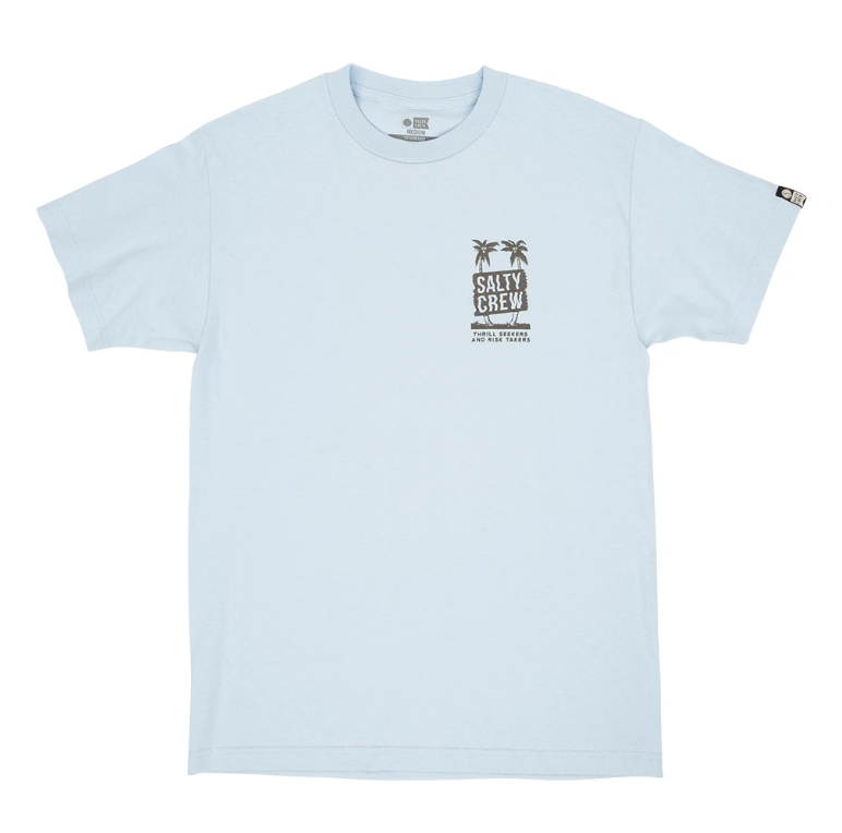 SALTY CREW Wavy Palms T-Shirt Light Blue MENS APPAREL - Men's Short Sleeve T-Shirts Salty Crew