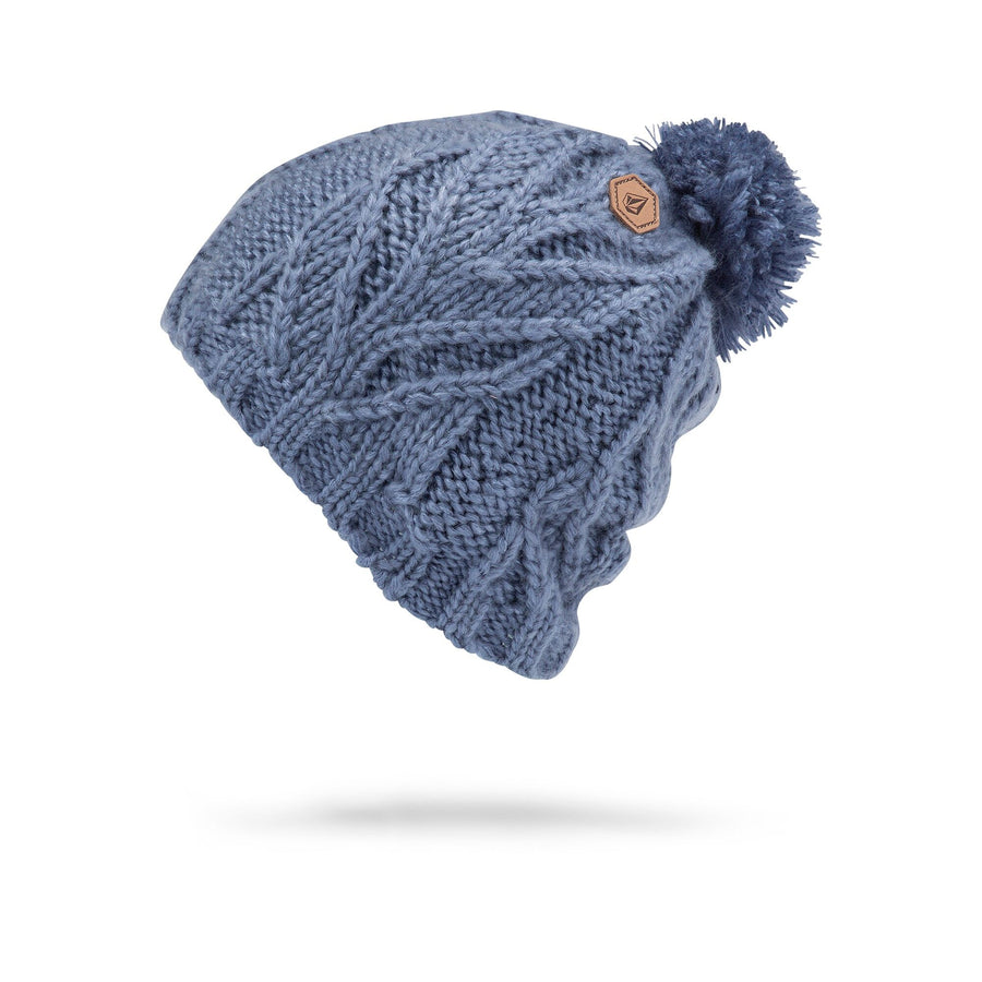 VOLCOM Leaf Beanie Women's Washed Blue WOMENS ACCESSORIES - Women's Beanies Volcom