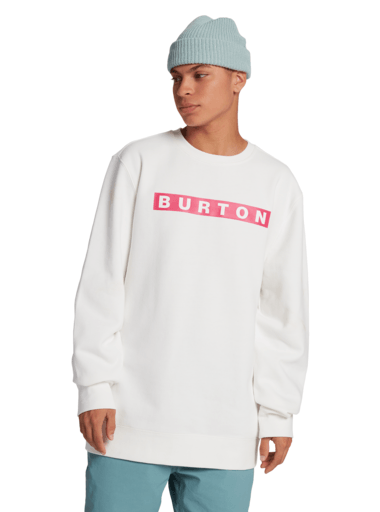 BURTON Vault Crew Sweater Stout White MENS APPAREL - Men's Sweaters and Sweatshirts Burton