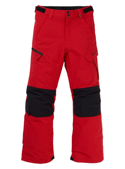BURTON Exile Cargo Snowboard Pants Boys Flame Scarlet 2020 YOUTH INFANT OUTERWEAR - Youth Snowboard Pants Burton