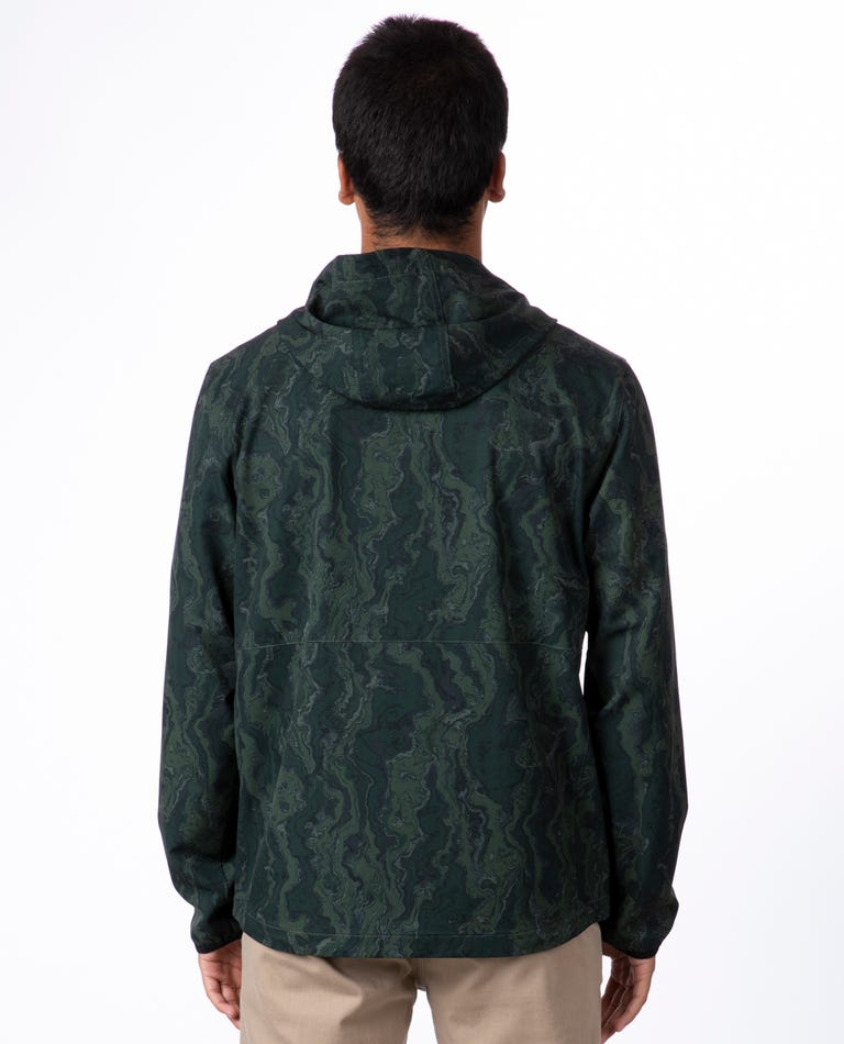 RIP CURL Elite Anti Series Windbreaker Jacket Camo MENS APPAREL - Men's Street Jackets Rip Curl