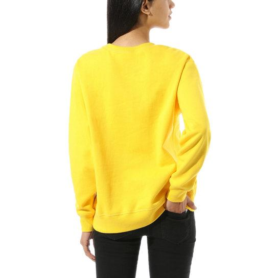 VANS Make Me Your Own Fleece Sweater Women's Lemon Chrome WOMENS APPAREL - Women's Knits and Sweaters Vans