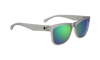 SPY Sundowner Matte Translucent Smoke - Gray w/Green Spectra Sunglasses
