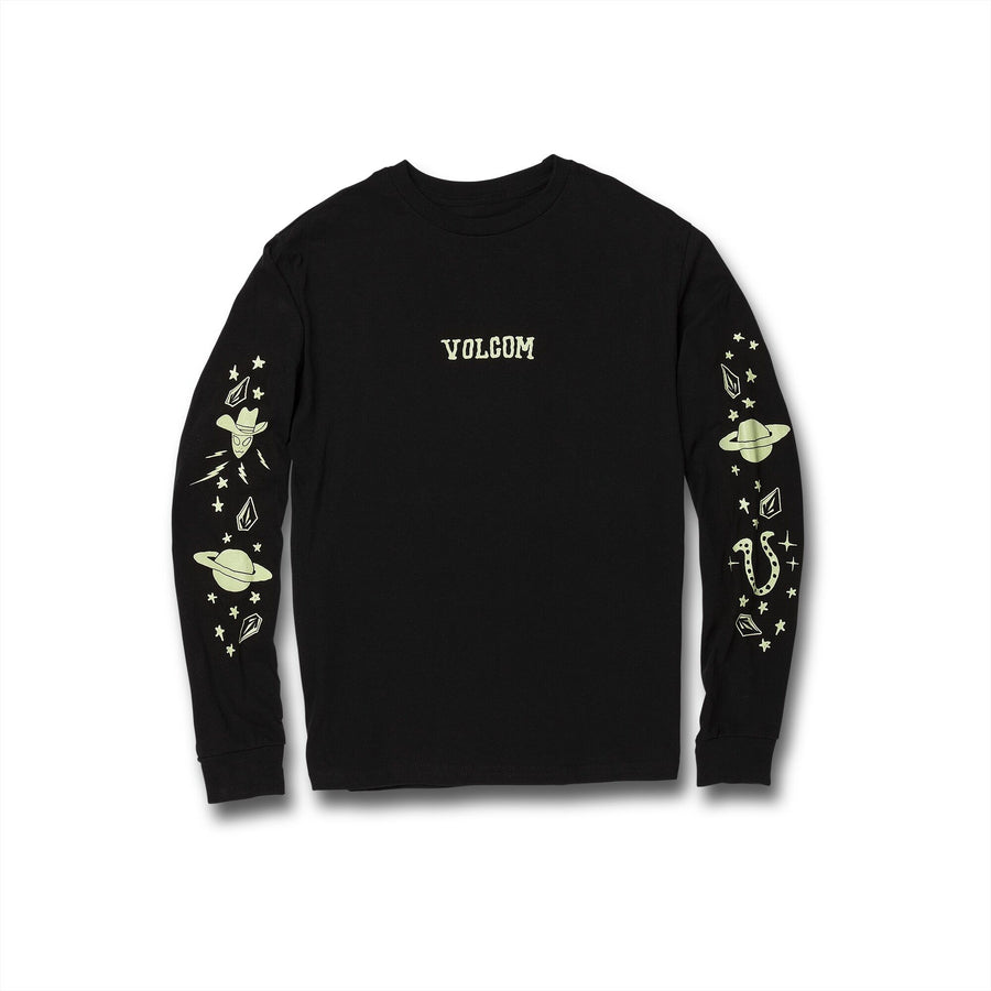 VOLCOM Familystones L/S T-Shirt Boys Black KIDS APPAREL - Boy's T-Shirts Volcom