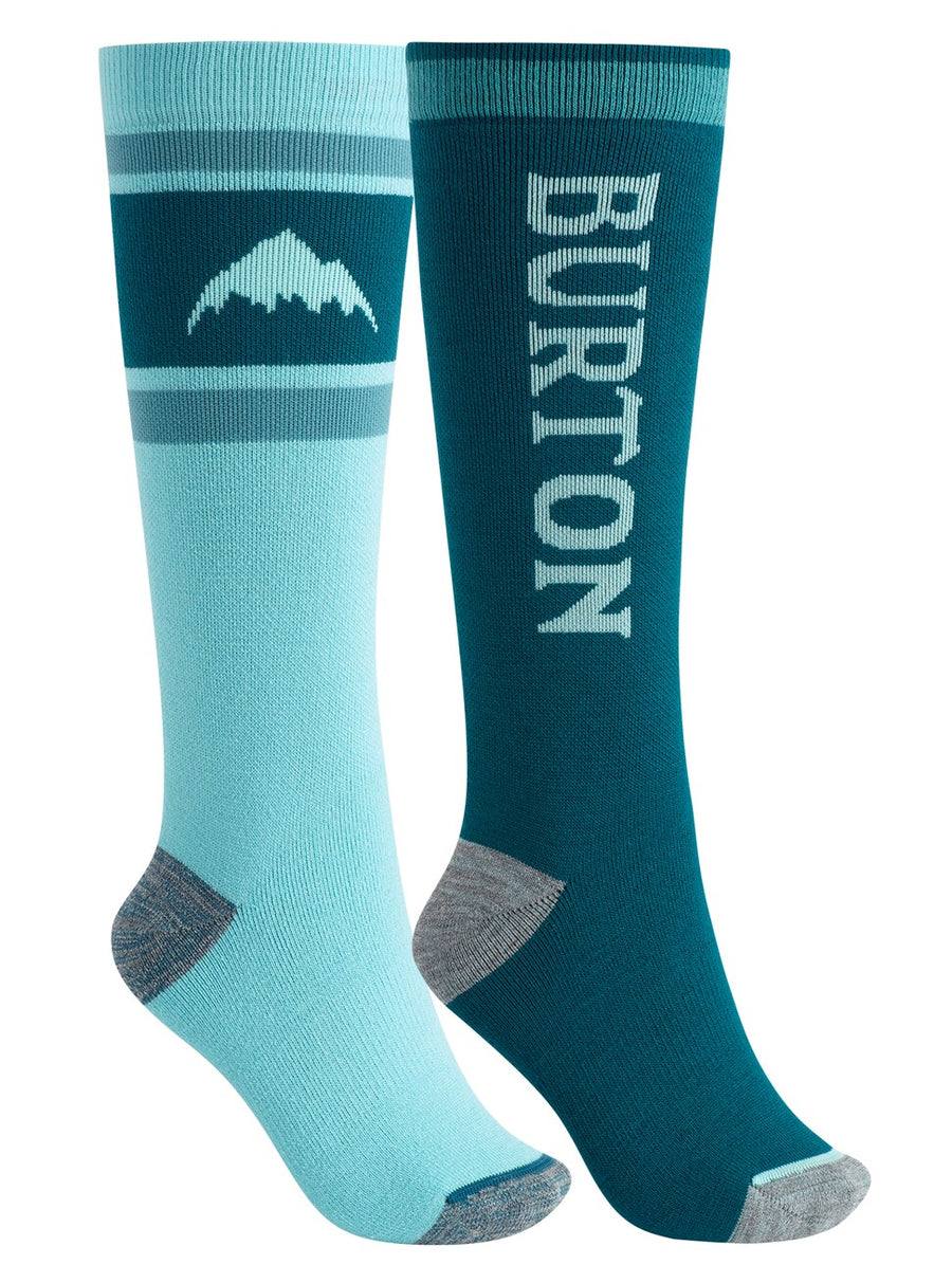 BURTON Weekend Midweight Snowboard Socks 2-Pack Women's Blue Curaçao