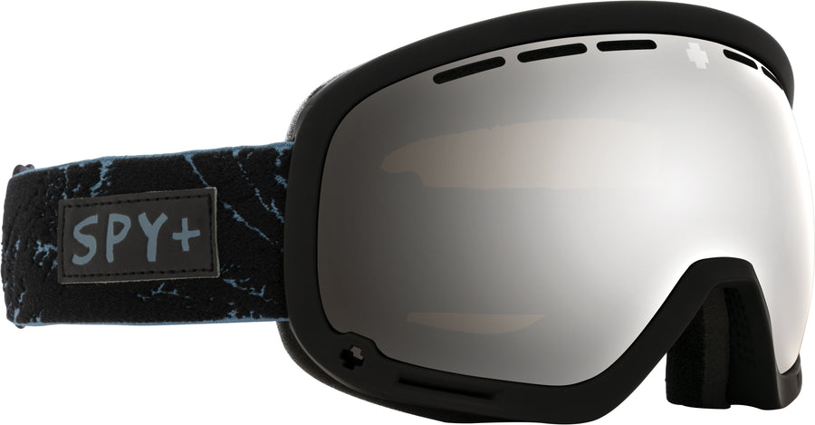 SPY Marshall Glacial Black - HD Plus Bronze with Silver Spectra Mirror + HD Plus LL Yellow with Green Spectra Mirror Snow Goggles GOGGLES - Spy Goggles Spy