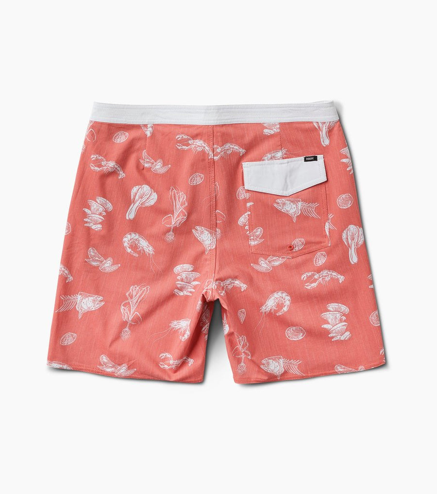 "ROARK Chiller Seafood Stew 17"" Boardshort Red"