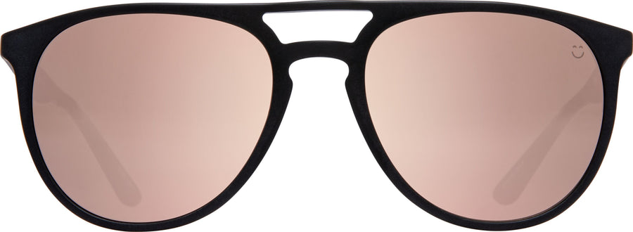 SPY Syndicate Matte Black - Happy Bronze W/Rose Quartz Spectra Sunglasses
