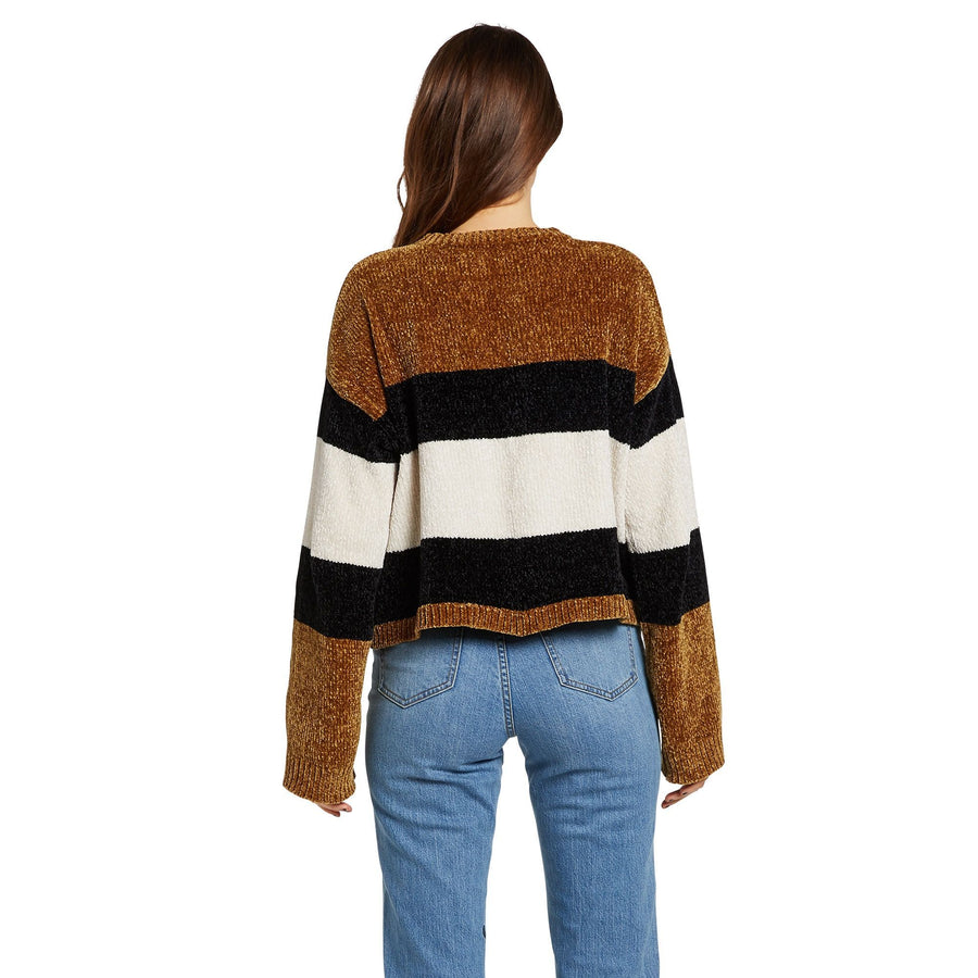 VOLCOM Bubble Tea Sweater Women's Vintage Gold WOMENS APPAREL - Women's Knits and Sweaters Volcom