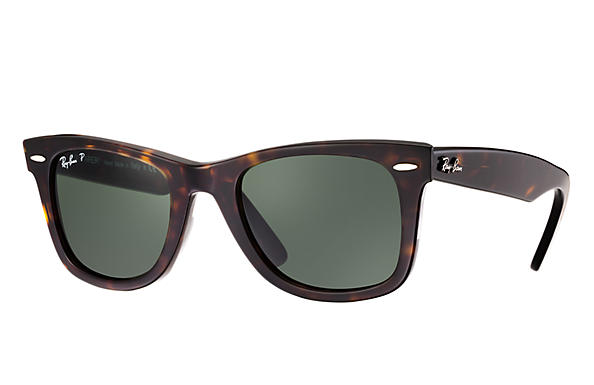 RAY-BAN Original Wayfarer Tortoise 50 - Green Classic G-15 Polarized Sunglasses SUNGLASSES - Ray-Ban Sunglasses Ray-Ban