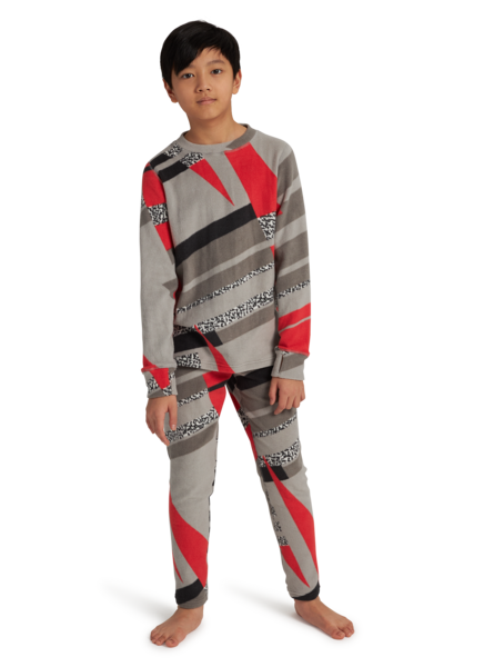BURTON Fleece Base Layer Set Kid's Bold Throwback