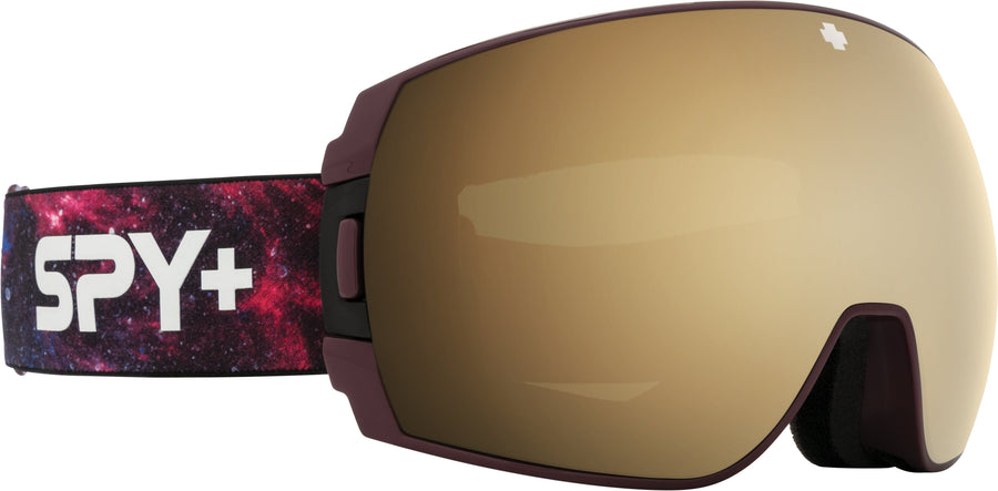 SPY Legacy SE Galaxy Purple - HD Plus Bronze with Gold Spectra Mirror + HD Plus LL Persimmon with Silver Spectra Mirror Snow Goggles GOGGLES - Spy Goggles Spy