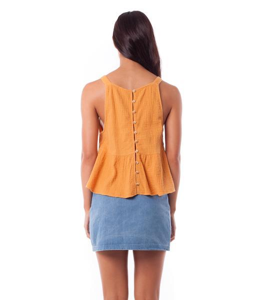 RHYTHM Camille Top Marigold WOMENS APPAREL - Women's Tank Tops and Halter Tops Rhythm