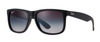 RAY-BAN Justin Classic 55 Black Rubber - Grey Gradient Polarized Sunglasses