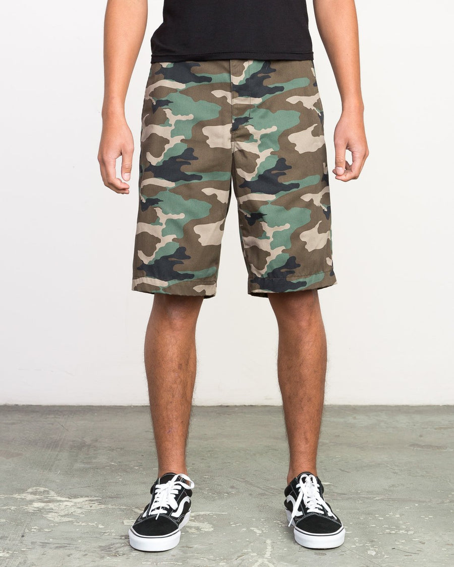"RVCA Americana 22"" Walkshorts Camo MENS APPAREL - Men's Walkshorts RVCA 32"