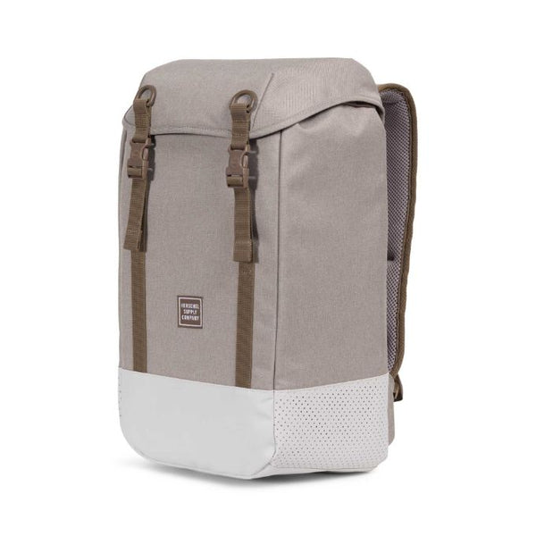 HERSCHEL Iona Polycoat Light Khaki Crosshatch Silver Birch Backpack 3ccadc016bf4