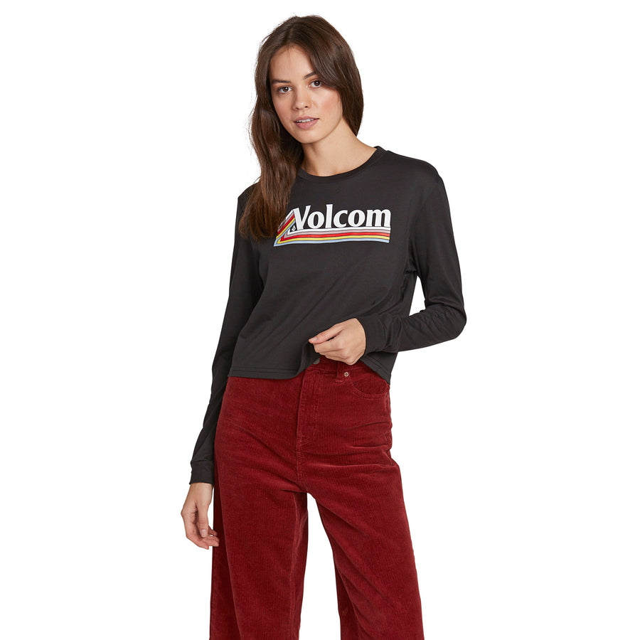 VOLCOM The Volcom Stones Long Sleeve Women's Black WOMENS APPAREL - Women's Long Sleeve T-Shirts Volcom L