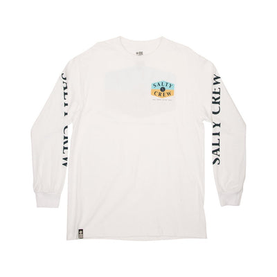 SALTY CREW Overhead L/S T-Shirt White MENS APPAREL - Men's Long Sleeve T-Shirts Salty Crew