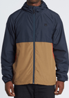 BILLABONG Transport Windbreaker Jacket Dark Indigo MENS APPAREL - Men's Street Jackets Billabong