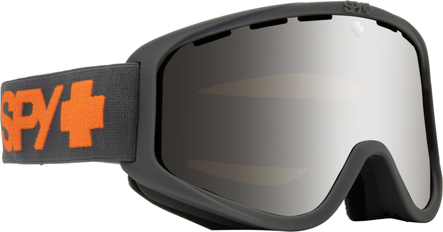 SPY Woot Matte Grey - HD Bronze with Silver Spectra Mirror + HD LL Persimmon Snow Goggles GOGGLES - Spy Goggles Spy