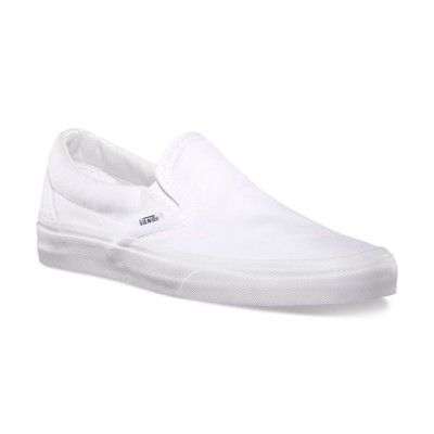 VANS Classic Slip On Shoes True White