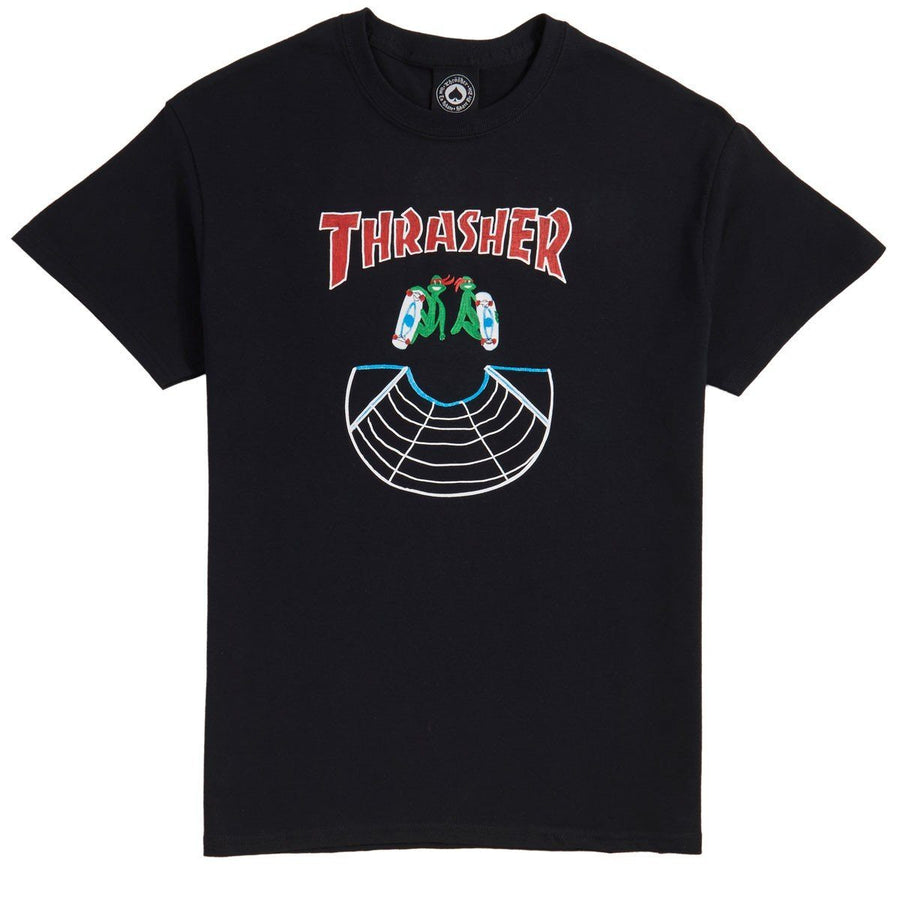 THRASHER Doubles T-Shirt Black