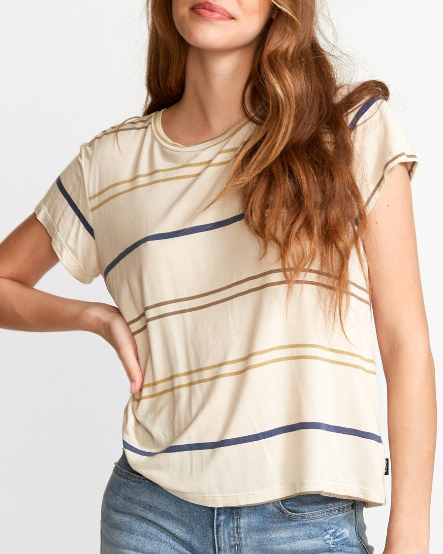 RVCA Recess 2 Knit T-Shirt Women's Oatmeal WOMENS APPAREL - Women's T-Shirts RVCA S
