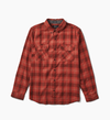 ROARK Cassidy L/S Button Up Red MENS APPAREL - Men's Long Sleeve Button Up Shirts Roark Revival