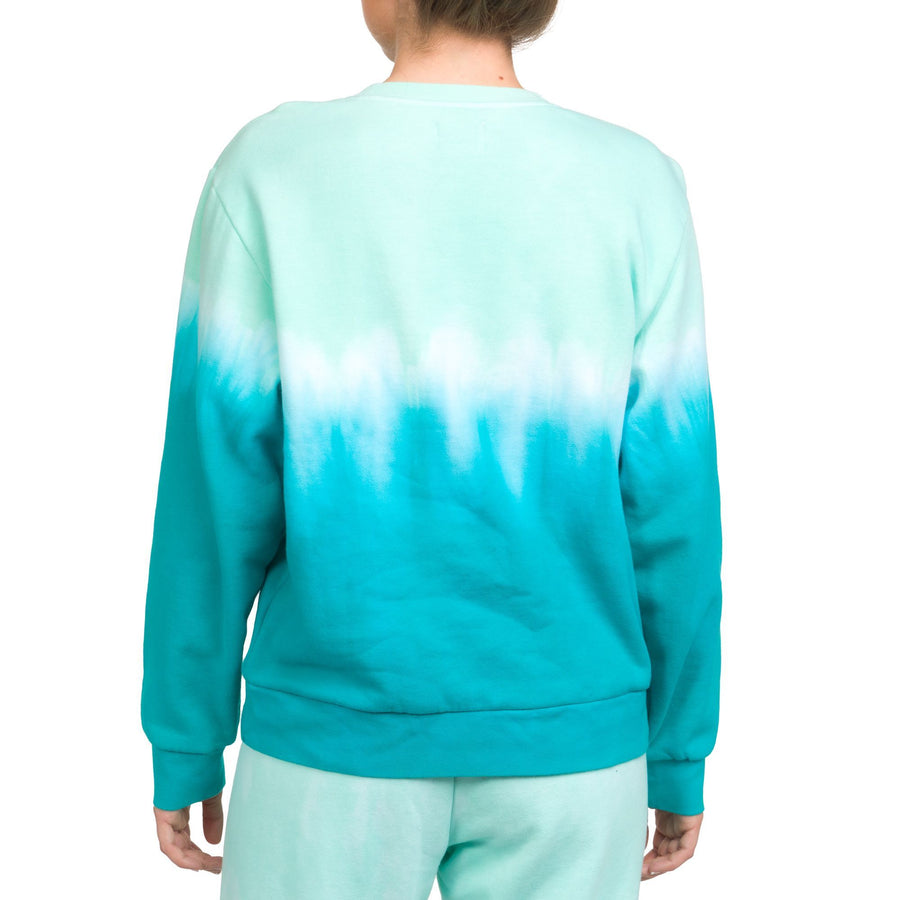 HURLEY Double Dip Dye Crew Sweater Women's Light Dew WOMENS APPAREL - Women's Knits and Sweaters Hurley
