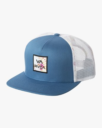 RVCA All The Way Trucker Floral Hat Nautical Blue MENS ACCESSORIES - Men's Baseball Hats RVCA