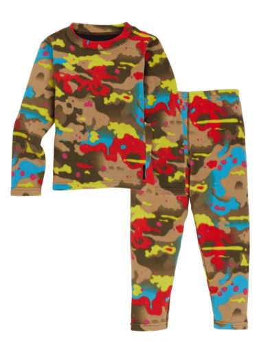 BURTON Fleece Base Layer Set Toddler Bright Birch Camo YOUTH INFANT OUTERWEAR - Youth Base Layer Burton