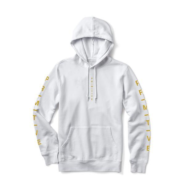 PRIMITIVE Moods Metallic Pullover Hoodie White