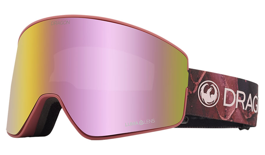 DRAGON PXV2 Rose - Lumalens Pink Ion + Lumalens Dark Smoke Snow Goggle GOGGLES - Dragon Goggles Dragon