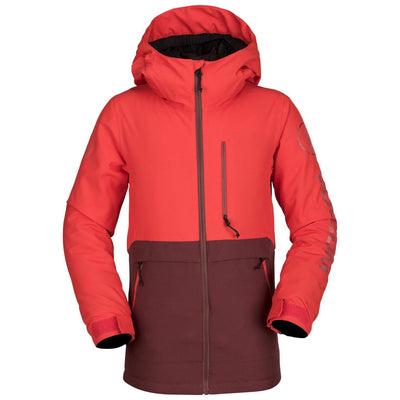 VOLCOM Holbeck Insulated Youth Snowboard Jacket Fire Red 2019 YOUTH INFANT OUTERWEAR - Youth Snowboard Jackets Volcom XL