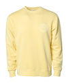 FREERIDE Okanagan Badge Boyfriend Crew Neck Women's Yellow WOMENS APPAREL - Women's Knits and Sweaters Freeride