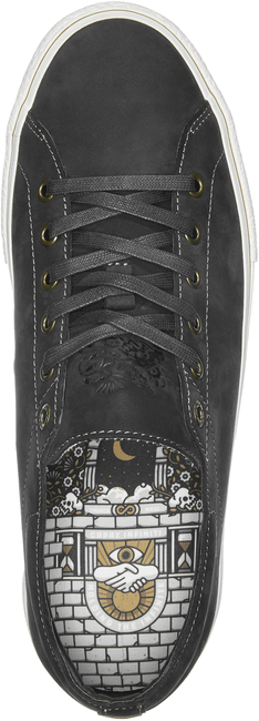 EMERICA Omen Low X Sasha Barr Reserve Shoes Black Raw FOOTWEAR - Men's Skate Shoes Emerica